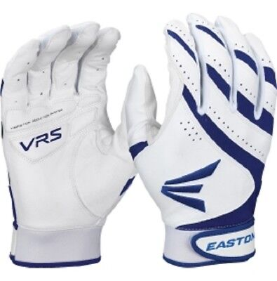 1pr Easton HF VRS Adult X-Small White/Royal Blue Fastpitch Womens Batting Gloves