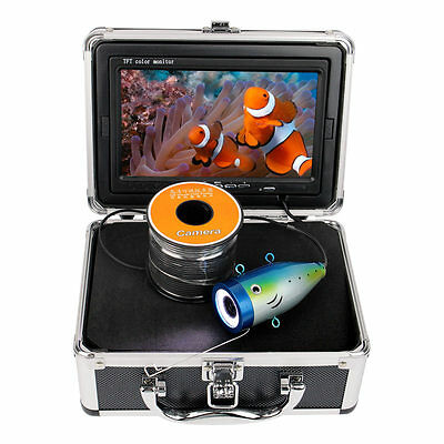 """7"""" LCD 1000TVL 15M Underwater Video Camera System Fish Finder for Light Fishing"""
