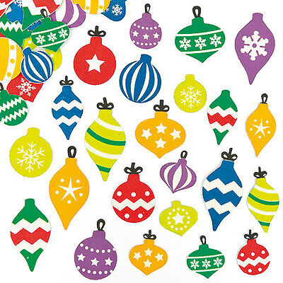Bauble Foam Stickers for Children to Decorate Christmas Crafts (Pack of 120)
