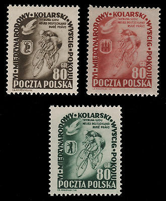 Polen 1953 - Mi-Nr. 799-801 ** - MNH - Sport - Rad / Bicycle