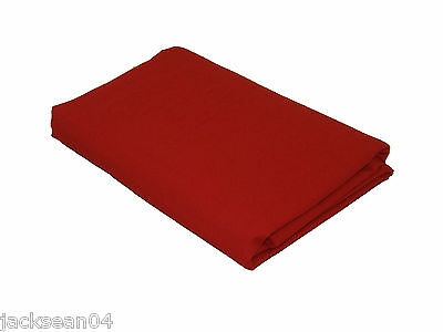 Single Bed Linen Red Quality 76/68 Pick Cotton Fitted Sheet