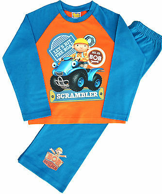 BB74 Boys Bob The Builder Srambler Pyjamas Pjs Ages 12 Months to 5 Years