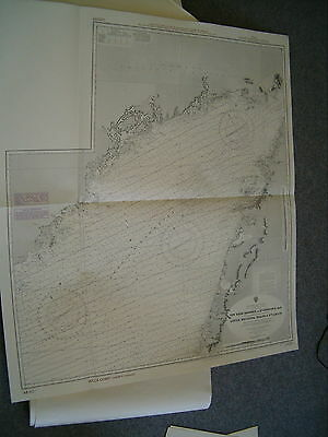 Vintage Admiralty Chart 284 GULF OF ST. LAWRENCE 1973 edn