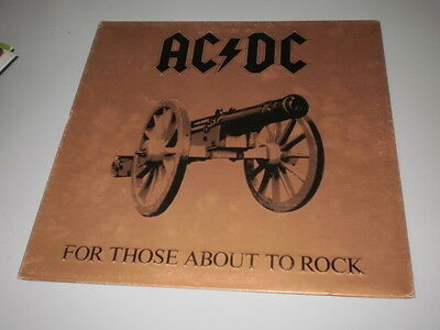 Ac/dc - For Those About To Rock - Lp 1981 Made In Italy - Gatefold - Atlantic -