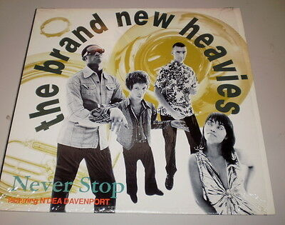 """THE BRAND NEW HEAVIES - NEVER STOP - Feat. N'DEA DAVENPORT - 12"""" MADE IN U.S.A."""