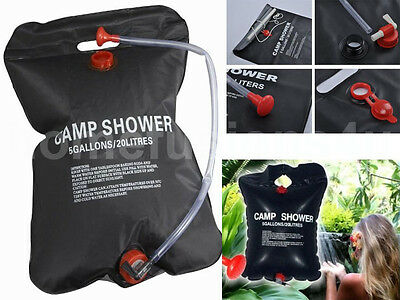 New 20L Solar Power Camping Shower Portable Compact Sun Heated Water Outdoor