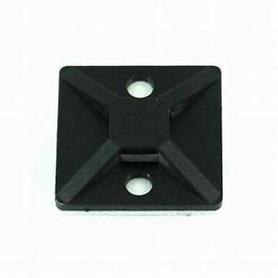 "50 3/4"" x 3/4"" Inch Cable Tie Mounts BLACK UV Nylon w/ Adhesive Backing MADE USA"