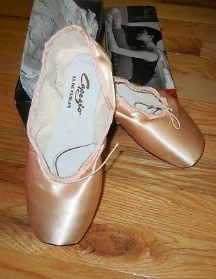 NEW in box Capezio Chasse Pointe Shoes Satin Toe Shoes #120 M & W  widths