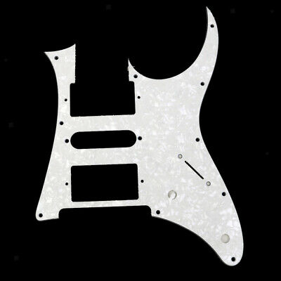 White Pearl Guitar Pickguard For Ibanez RG550 or Jem RG Replacement 3 Ply