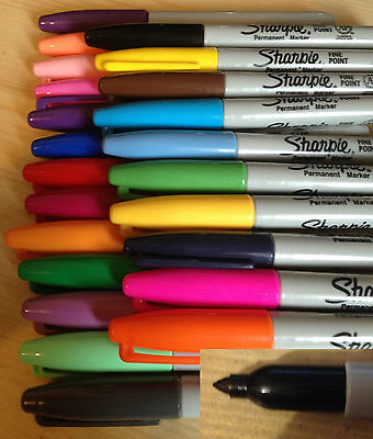 Sharpie Fine Point Permanent Markers 49 Colours -  Single Pens - Free Shipping