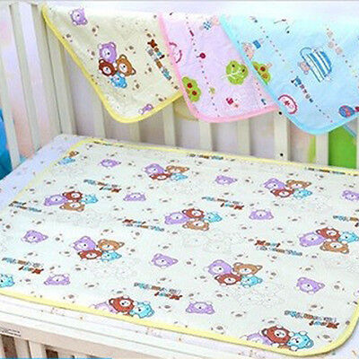 Newborn Baby Infant Soft Cotton Waterproof Urine Mat Changing Nappies Cover Pad
