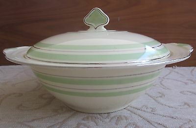 vintage 1930s NEW HALL art deco style LIDDED TUREEN table serving ware