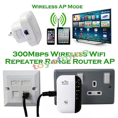 300Mbps Wireless N 802.11 AP Wifi Range Router Repeater Booster Extender AU Plug