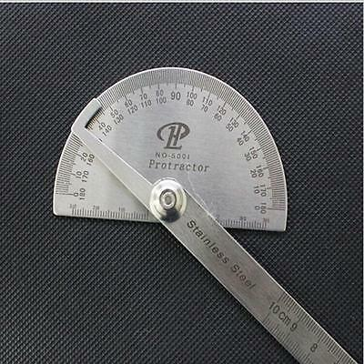 1Pcs Stainless Steel Round Head Rotary Protractor Angle Ruler Measuring Tools Z