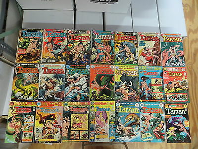 Tarzan 41 Issue Bronze Comic Run Lot 208-258 Dc Giant Issues