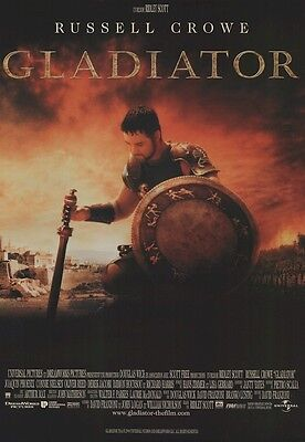 GLADIATOR MOVIE POSTER ~ STYLE B 27x40 Russell Crowe Sword Shield French