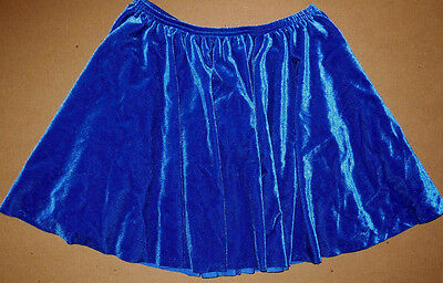 NWOT Wolff Fording Jazz Tap Dance Royal Velvet Skirt Elastic Waist Ladies/Girls