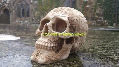 New Design Rubber Latex Mould Moulds Mold To Make Medium Gothic Celtic Skull S1