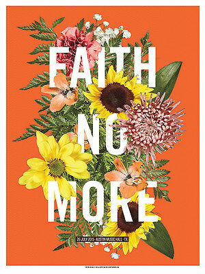 FAITH NO MORE poster Austin 2015 by Lil Tuffy