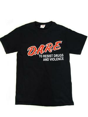 (NEW) D.A.R.E. To Resist Drugs & Violence Retro T-Shirt (ADULT SMALL) DARE