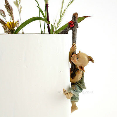 Miniature Fairy Garden Pixie Flower Pot Hugger TO 4383 / Gnome
