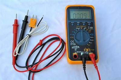 AC/DC Ammeter Multimeter DMM+Capacitor Test Tester+Thermocouple HVAC Meter Tool