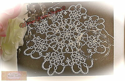 "Vintage Tatting Pattern Beautiful Doily ""Summer"" to Grace Your Table. JUST 99p!"