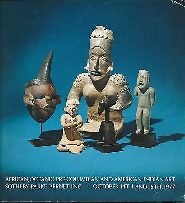 SOTHEBY'S AFRICAN OCEANIC AMERICAN INDIAN PRE-COLUMBIAN Catalog 1977