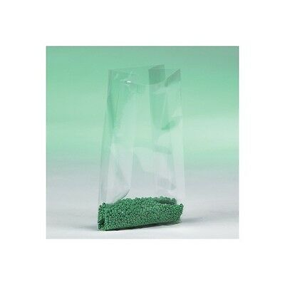 """""""Gusseted 1 Mil Poly Bags, 8"""""""" x 4"""""""" x 12"""""""", Clear, 1000/Case"""""""