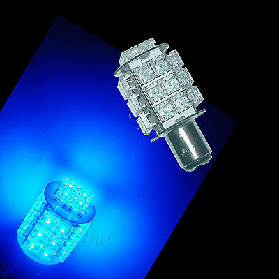 1157 Bay15d Suzuki Yamaha Scooters 28 Flux LED Tail Brake Lights BULB Blue Color