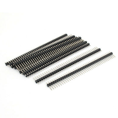 11pcs Straight 40-pin 2.54mm Male Pin Header for Breadboard 1x40 Single Row