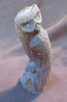 Zuni Amazing Antler Owl by Master Carver Derrick Kaamasee C0215