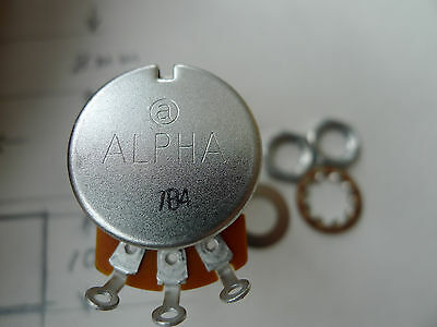 10 pcs Alpha Full Size 24mm A250k Split Shaft Copper Rotary Potentiometer