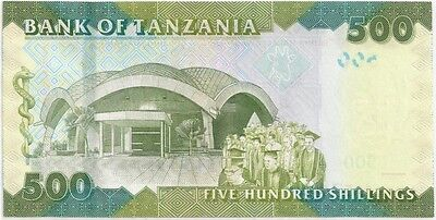 TANZANIA 2010 ND 500 SHILLINGS BANK NOTE in a Protective Sleeve