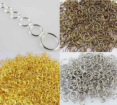 Various sizes Metal Open Jump Rings Jewelry Making Design Connectors Find