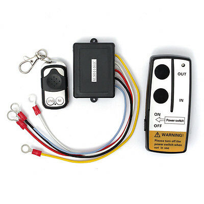 50ft Winch Wireless Remote Control Set 12V DC for Truck Jeep ATV Warn Ramsey