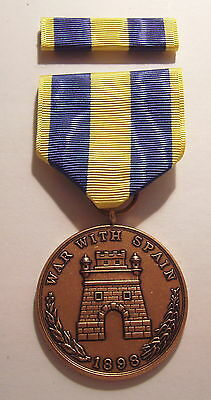 1898 Army Spanish War Campaign Medal with RIBBON