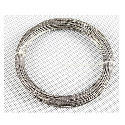 "50feet 1/16""100% Marine Grade Stainless Steel Cable Wire Rope Free Shipping"