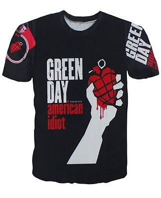 Green Day American Idiot   T-shirt # A088
