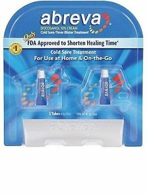 2pk Abreva Cold Sore and Fever Blister Treatment .07 oz Each