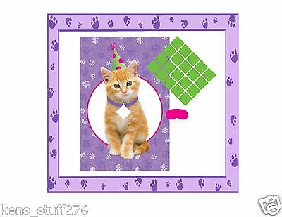Purrty Time Birthday Activity  20 Player Party Game NEW Cuddly Kitty Pin Game