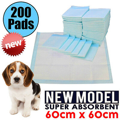 200pcs New Puppy Pet Dog Indoor Cat Toilet Training Pads Super Absorbent 60x60cm