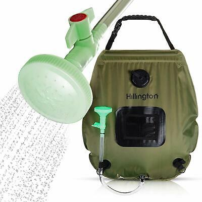 20L Solar Power Shower Camping Water Portable Sun Compact Heated Outdoor New