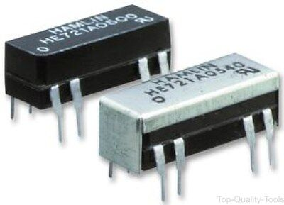 RELAY, REED, 5VDC, SPST-NO, Part # HE721A0500