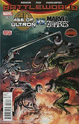 Age of Ultron vs. Marvel Zombies #3 Comic Book 2015 Secret Wars - Marvel