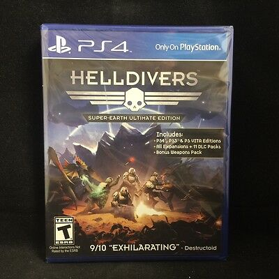 Helldivers: Super-Earth Ultimate Edition (Sony PlayStation 4) BRAND NEW