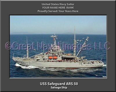 USS Opportune ARS 41 Personalized Canvas Ship Photo Print Navy Veteran Gift
