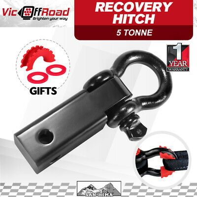 Recovery Hitch Receiver Bonus Bow Shackle Tow Bar Aluminum 5T Off Road 4X4 4WD
