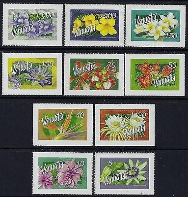 2006 Vanuatu Flowers Peel N Stick (Domestic)Complete Set Of 10 Fine Mint Mnh/muh