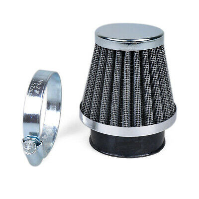 Motorcycle Chrome Cone Power Scooter Cone race Intake Air Filter 38-39-40MM